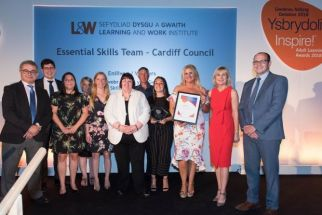 The Essential Services team won an inspire award