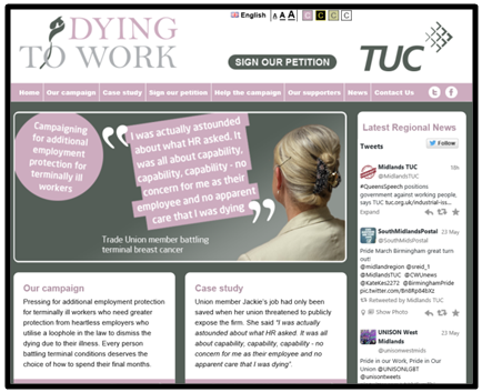 dying to work website
