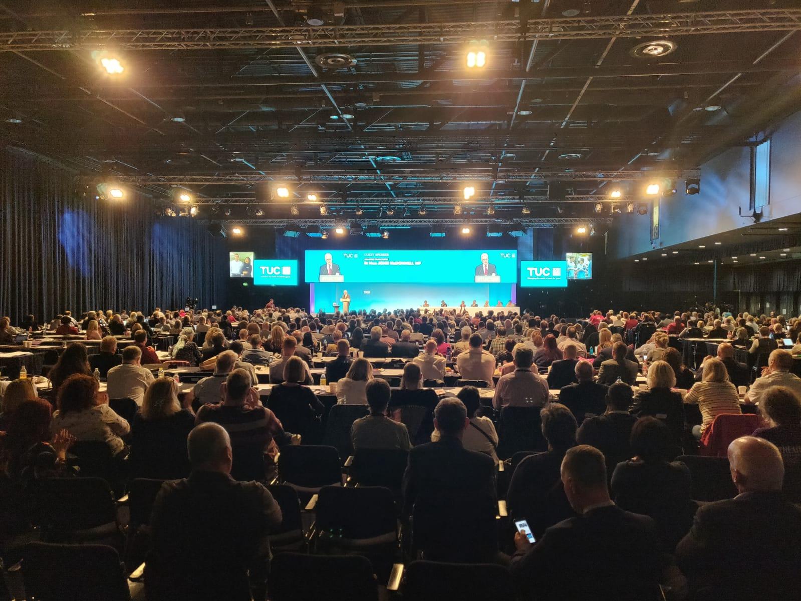 Shadow Chancellor John McDonnell addressing TUC150 Congress