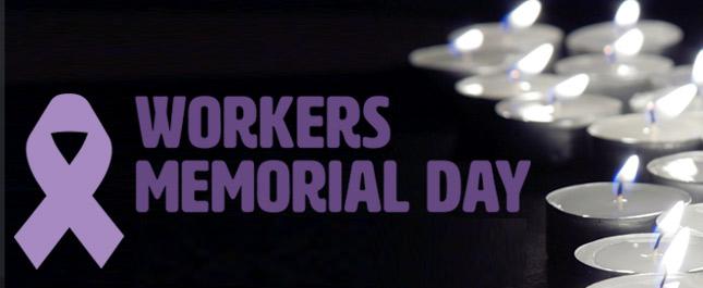 Workers' Memorial Day banner