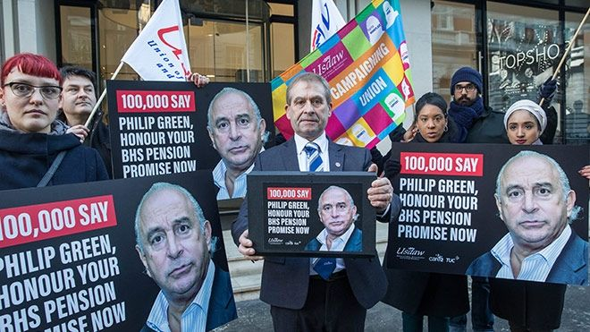 USDAW and campaign site Care2 join with us to hand in a petition of over 100,000 names to Philip Green as part of the campaign