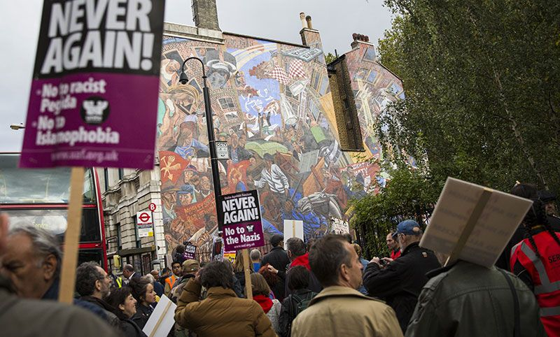 Rally To Commemorate The 80th Anniversary Of The Battle Of Cable Street. Photo by Jack Taylor/Getty Images