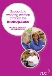Supporting women through the menopause guidance