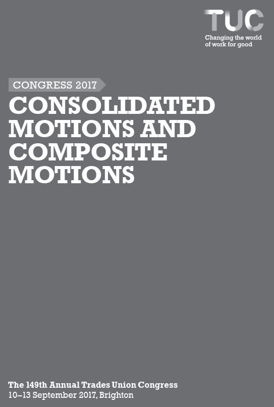 Consolidated motions and composite motions - Congress 2017