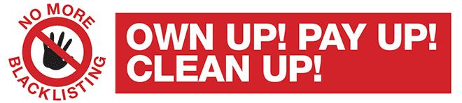 No More Blacklisting campaign logo