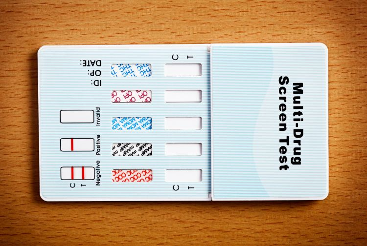 Multi-drug test kit with blank results slots