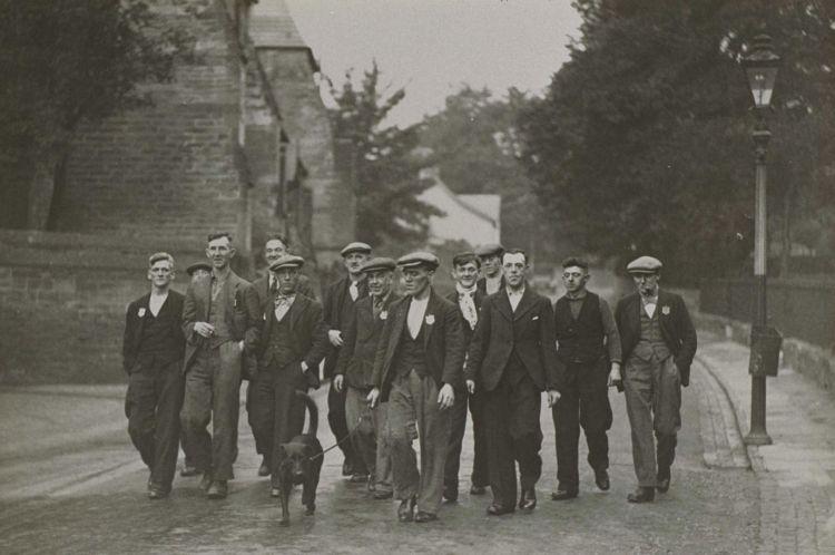 Jarrow marchers en route to London