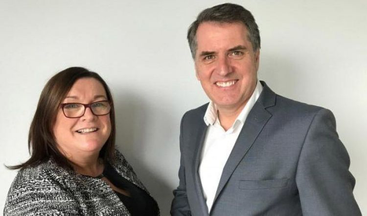 The TUC's Lynn Collins with Liverpool City Region Mayor Steve Rotheram