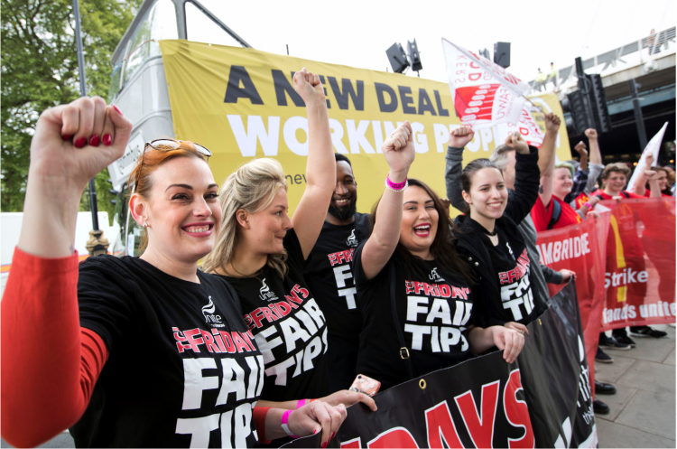 TUC March and Rally, London, 2018 - A New Deal for Working People