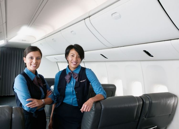 Photo of two flight attendants