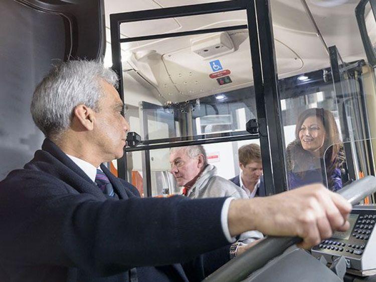 Bus driver. Photo Monty Rakusen