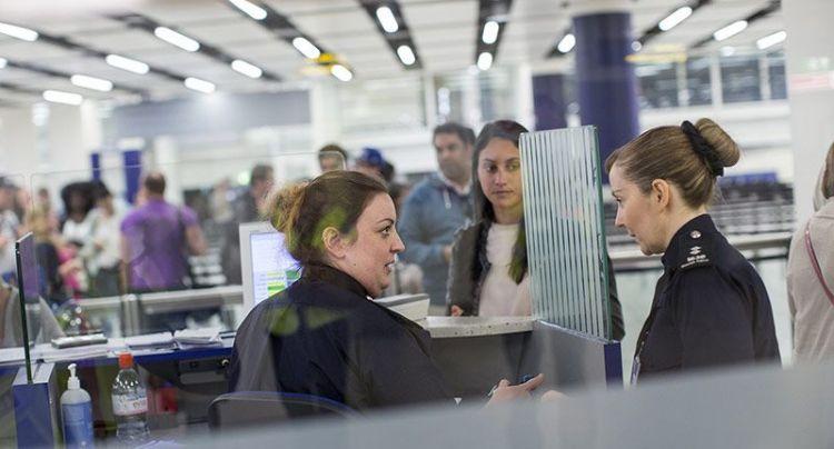 Gatwick passport control. Photo Oli Scarff/Getty Images