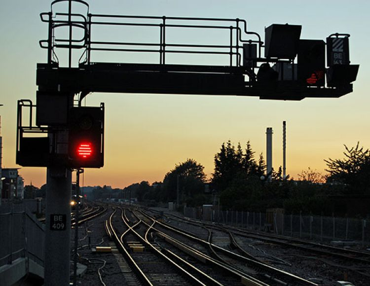 Rail signals. Photo: Amanda Lewis / Getty