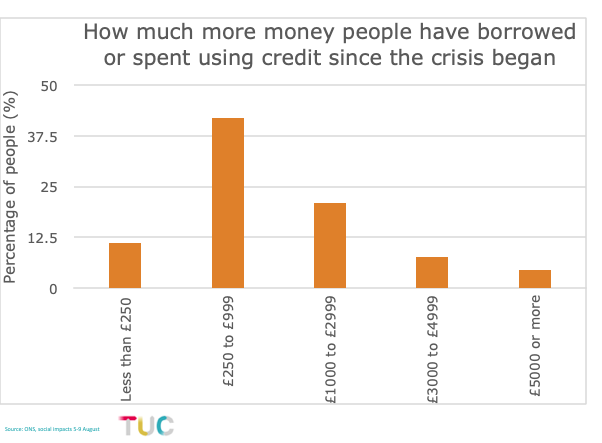 Borrowing since crisis began